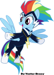 The Zap (aka Rainbow Dash) by Vector-Brony