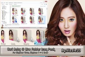 Yuri Baby G Live Folder Icon Pack by Rizzie23