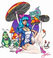 tattoo alice and chesser by scottssketches