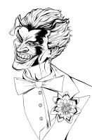 The Joker - Portrait Lineart by theharmine