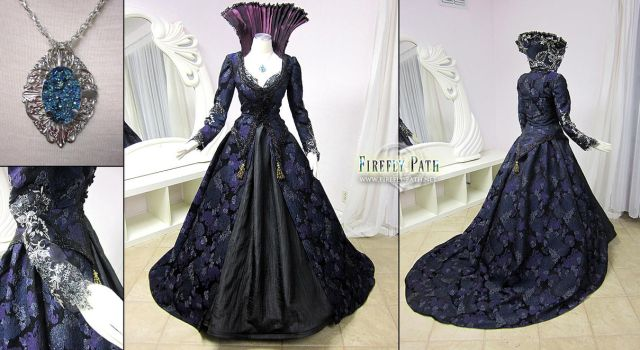 Regina Mills Once Upon a Time Purple Gown by Firefly-Path