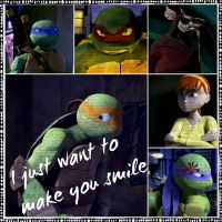 TMNT:: Mikey: I just want to make you smile by Culinary-Alchemist