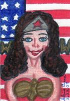 Lynda Carter Wonder Woman ACEO by Dreamerzina