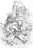 Marvel Characters Inked by BJSparky