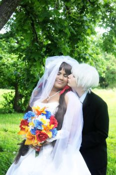 IcelandxSeychelles-The bride and groom-APH Hetalia by demyxsgal