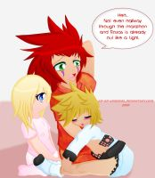 KH: Axel the Pillow by AD-SD-ChibiGirl