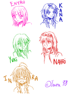 OC's Girls Sketch! by Inra98
