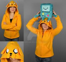 Adventure Time Jake Hoodie by SewDesuNe