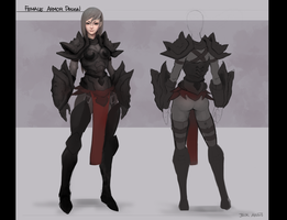 Female Armor Design by jzhaw