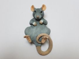 Blue Rat Sculpture Commission by philosophyfox