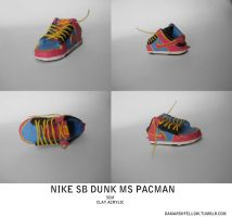 Sneaker Art Ms. Pacman by tharealdada