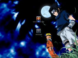 Naruto and Sasuke Login by WindowsNET