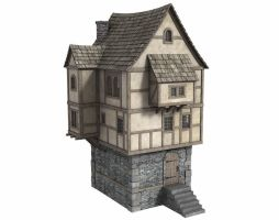 Fantasy House 4 - Freebie by DryJack