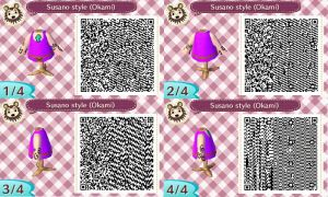 Animal Crossing New Leaf QR clothes: Susano Style by GreenDiablo
