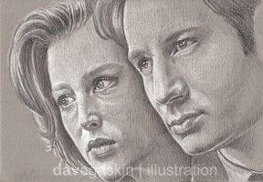 038 + 039 Mulder and Scully by BikerScout