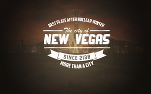New Vegas Typographic Logo by Salazyrian