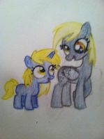 Derpy and Dinky by littlehappypanda