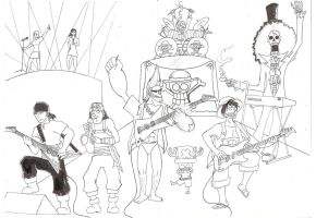 The Strawhats WIP by Myrskynmurtaja