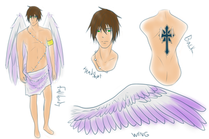 Angelo Rafael reference sheet (Eros form) by AcerbusKeeper