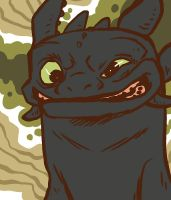 Smile Toothless by stehfuhknee