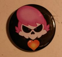 Mystery Skulls Lewis Button by ToonSkribblez