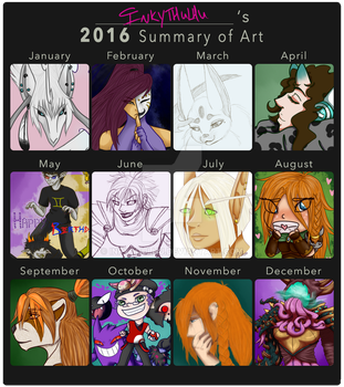 2016 Summary Of Art by Inkythulhu