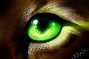 Random Green eye by Jei-Dinofelini