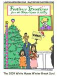 Obama Christmas Card Cartoon by Conservatoons