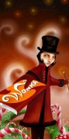 Willy Wonka by painted-ishi