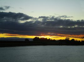 Cloud Cover Sunset by Marilyn958