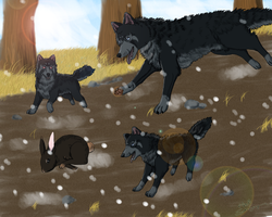 Commission :Ravenclaw with sons: by Rakaye