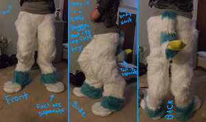 Ice's Fursuit: Digitigrade Legs COMPLETE by Ice-Artz