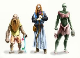 Some humanoid character designs by megapowerskills