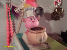 Cooking Kirby Papercraft by Christinabean