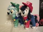 mlp lyra and bonbon plush (auction) by Little-Broy-Peep