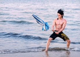 Summer Mode - Zack Cosplay Final Fantasy VII by LeonChiroCosplayArt