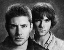 Sam and Dean by Allinor