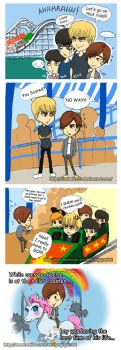 EXO at Disneyland -- California Screamin' by emilynguyenart