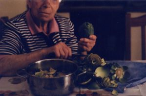Granma and Artichokes by ClemIsNoise