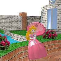Princess Peach Toadstool - Southern Courtyard by Vinfreild