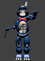 FNAF - Withered Toy Bonnie Model by hero13gamer