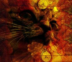 One Cat_Fruit_Clock 6 by Rickbw1