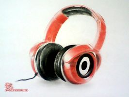 Headphones 3D DRAWING by AnkitDArt