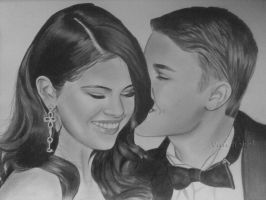Selena Gomes and Justin Bieber by Vira1991
