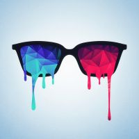 Psychedelic nerd glasses (Limited edition) by mrsbadbugs