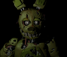 A slightly improved Springtrap's head, Thanks! by Apprenticehood