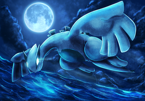 Lugia: Midnight Flight by Deruuyo