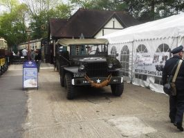 More US army transport at Tenterden town station by FFDP-Neko