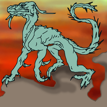 Thorny Dragon in another dimension - free2use by SusuSketches