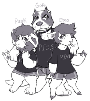 Edgy squad by pitbullie